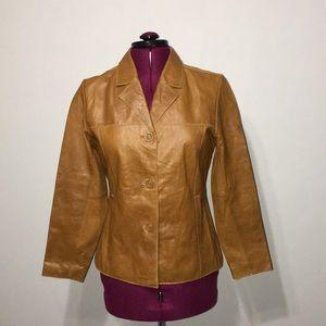EUC Mossimo Brown Leather Blazer Jacket